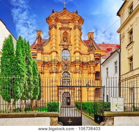 Church Of St. Joseph In The Lesser Town Are Of Prague (mala Strana).czech Republic.