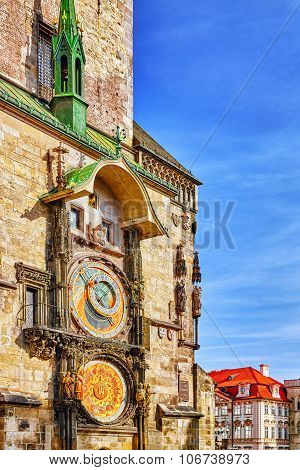 Astronomical Clock(staromestske Namesti)on Historic Square In The Old Town Quarter Of Prague, The Ca