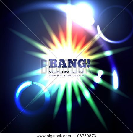 Explosion abstract vector background