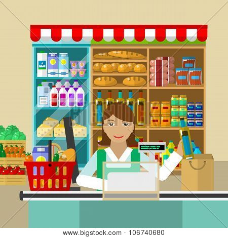Shop, seller of products
