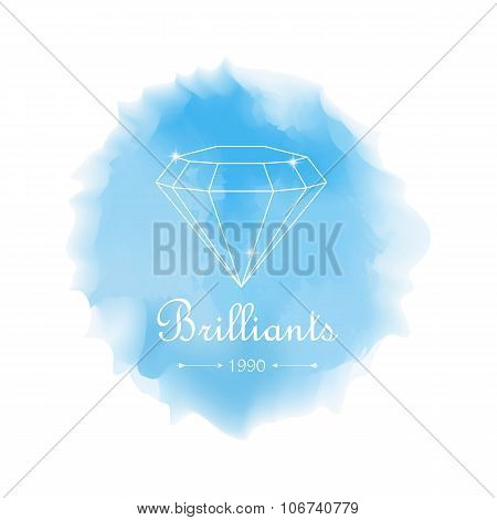 Watercolor Diamond Emblem