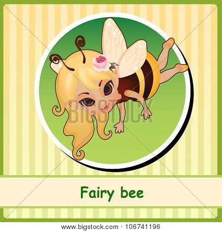 Fairy bee - hand-drawn illustration
