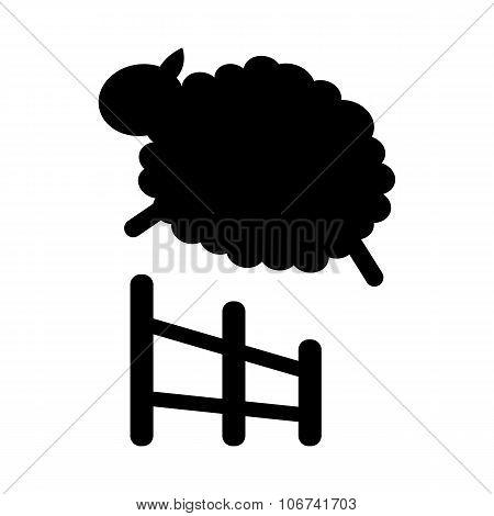 Sheep jumping icon