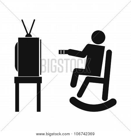 Human watching television