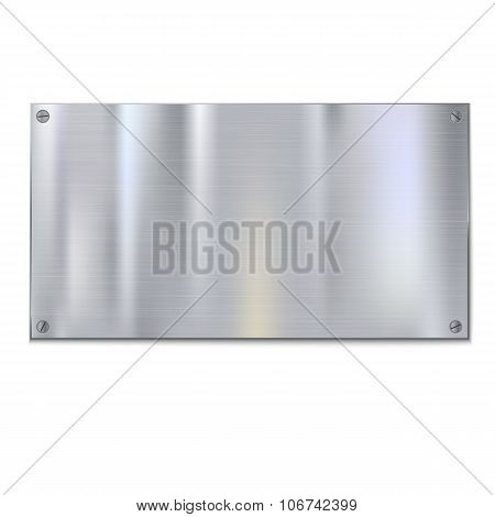 Shiny brushed metal