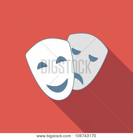 Drama flat icon