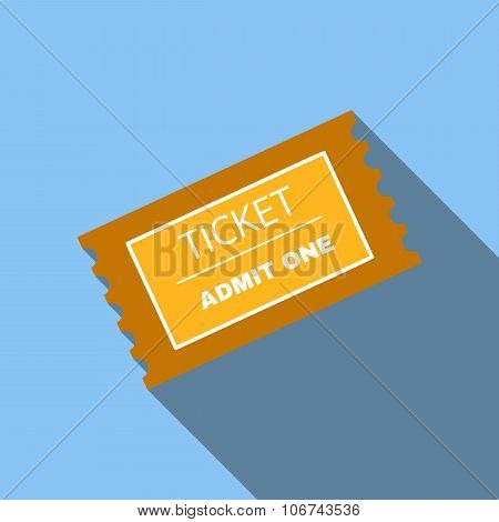 Ticket flat icon