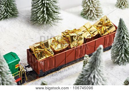 Holiday Train Carries Gifts For Christmas