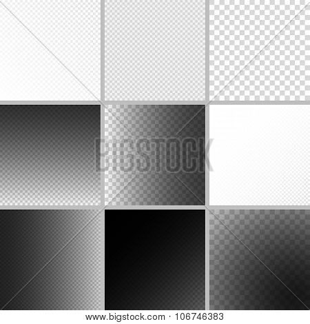 Set of editable background for transparency image. Vector