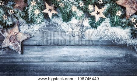 Christmas background in natural style and cool colors