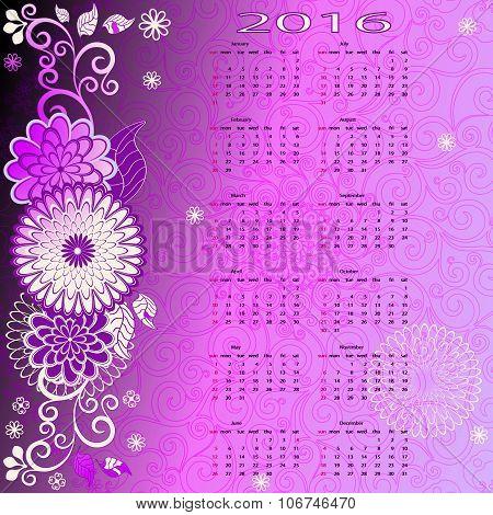 Floral Calendar For 2015