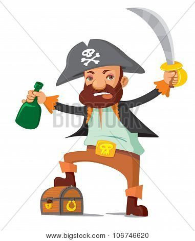 Pirate With Chest