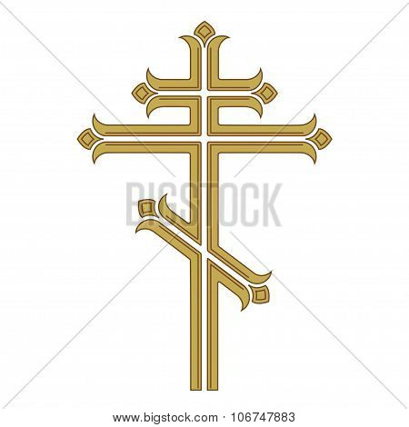 Ornamental orthodox cross