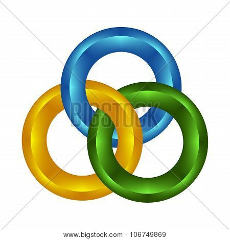 Colorized chain links