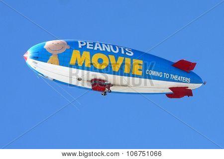 LOS ANGELES - NOV 1:  Metlife Peanuts Blimp at the