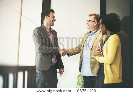 Business People Meeting Corporate Handshake Greeting Concept