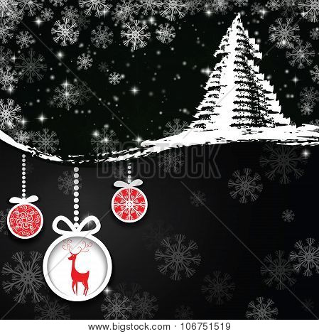 Dark Christmas Background.