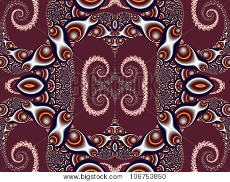 Beautiful Background With Spiral Pattern. Vinous And Gray Palette. Artwork For Creative Design, Art