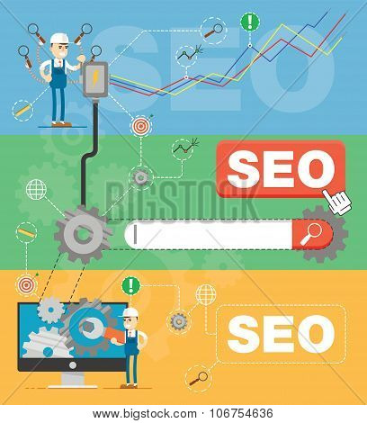 SEO optimization infographic