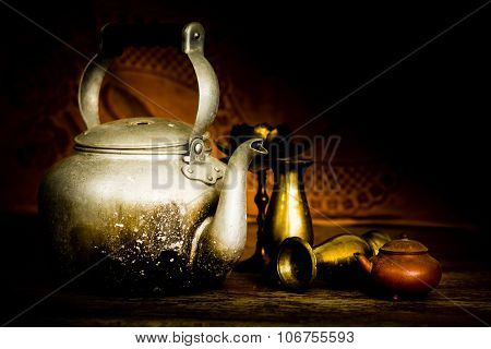 Candlesticks, Vases And Teapots