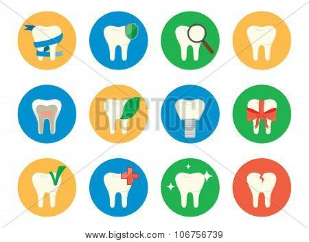 Tooth logo. Vector tooth icon set. Different tooth icon. Sixteen vector of teeth. Tooth care. Tooth sign. Tooth vector. Teeth icon set. Dental sign, teeth vector. Dental icon set. Tooth care.