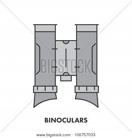 Line Icon Binocular In Color