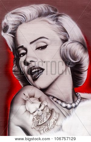 Street art of Marilyn Monroe