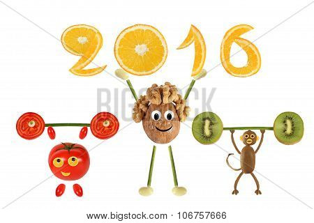 Group Of Funny Vegetables Raises Bar And 2016
