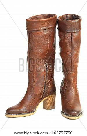Female Brown Leather Shoes