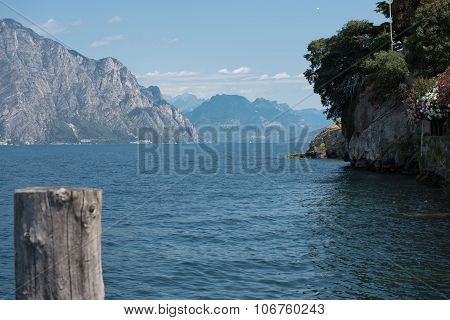 View On Lake Garda From Malcesine Drirection Riva