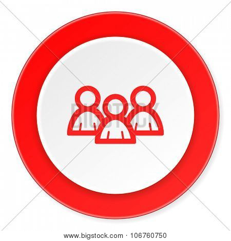 forum red circle 3d modern design flat icon on white background