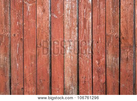 Old red brown board wall