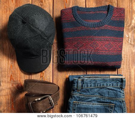 Set Of Warm Winter Male Cloth