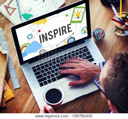 Inspire Ideas Creativity Knowledge Inspiration Vision Concept