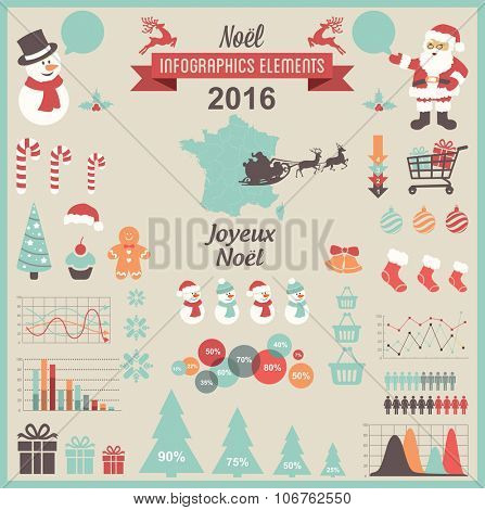 Christmas Infographic Elements- French Version