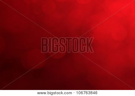 Red Christmas Background, Blurred Love Background, Colorful Of Blurred Nature With Red Christmas Bac