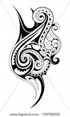 Tribal style tattoo
