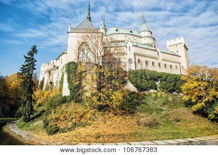 Bojnice Castle In Slovakia, Cultural Heritage, Seasonal Scene