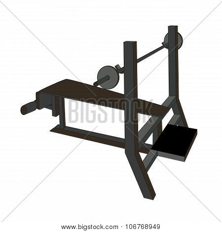 Sports Trainer. Simulator. Isolated Vector Illustration.