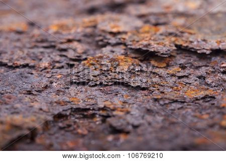 Rust closeup. Structure corrosion, texture