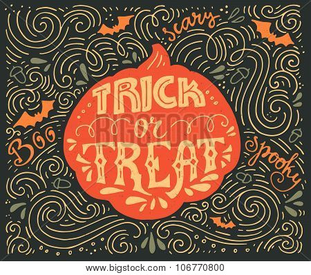 Trick-or-treat Lettering