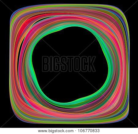 Abstract colorful frame with black background