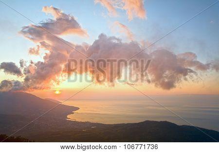 Daybreak Crimea Landscape