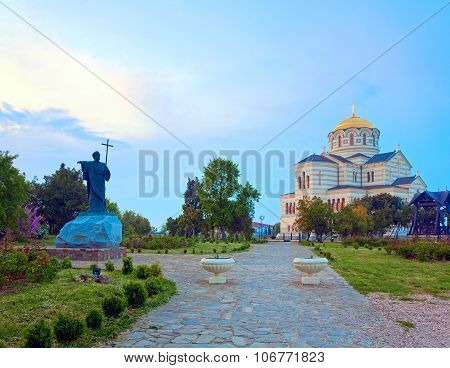 Evening St Vladimir Cathedral Church (chersonesos, Sevastopol)