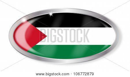 Palestine Flag Oval Button