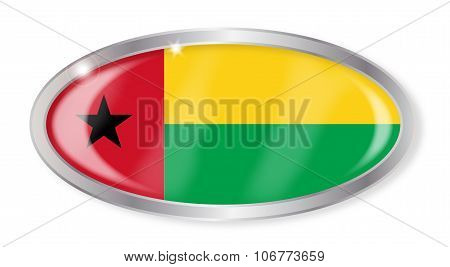 Guinea Bissau Flag Oval Button