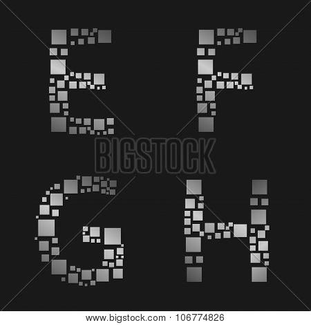 Silver letter set