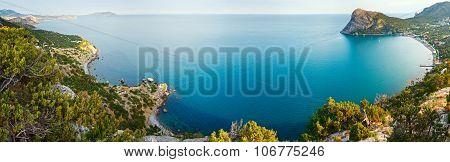 Summer Coastline Panorama (crimea, Ukraine).