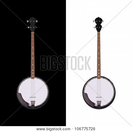 Banjo Isolated Folk Instrument