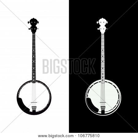 Banjo In Black And White